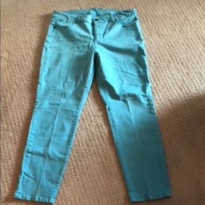 Talbots Turquoise Blue Ankle Jean